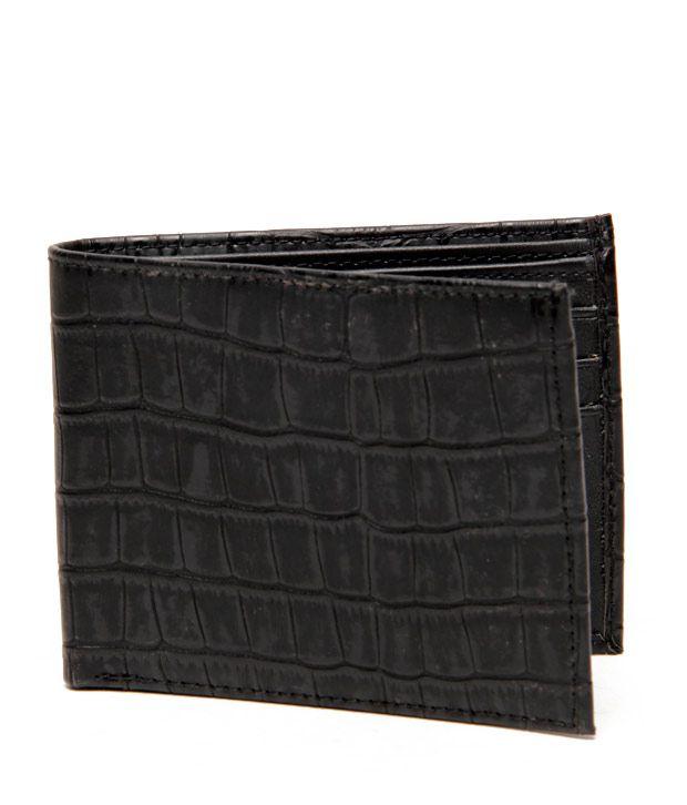 Essart Black Croc Finish Wallet