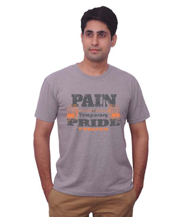 Inkovy Grey Melange  Pain & Pride T-Shirt