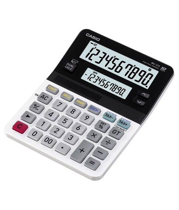Casio Mini Desk Type 10 Digit Calculator (MV-210)