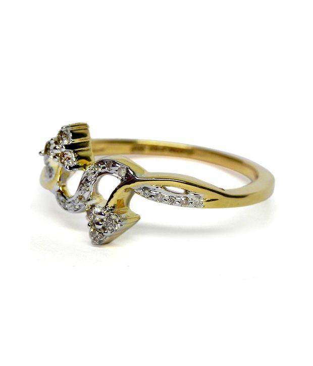 Djewels 0.13ct. Diamond 14kt Gold Ring