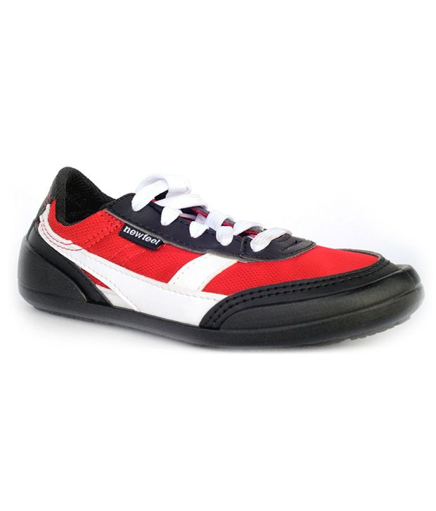 New Feel Black & Red Casual Shoes 5000006 For Kids