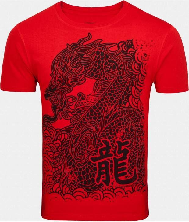 Zovi Classy Red Printed T Shirt