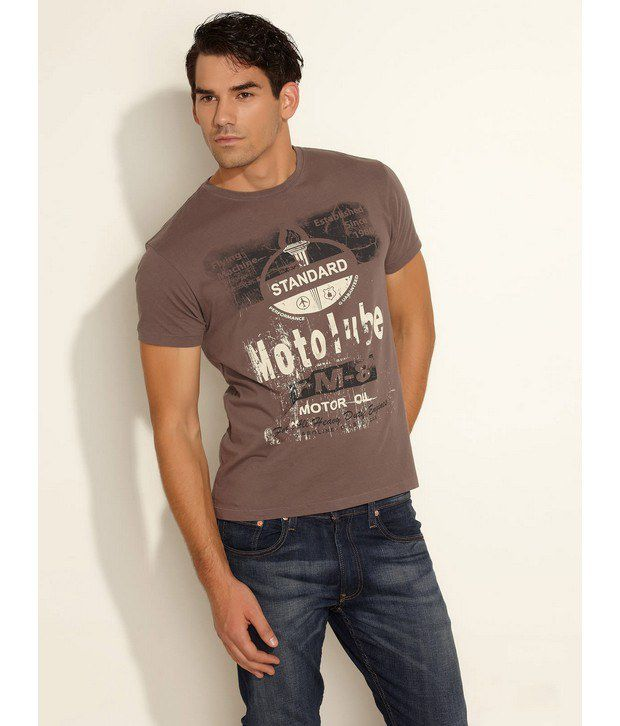 Flying Machine Brown T-Shirt