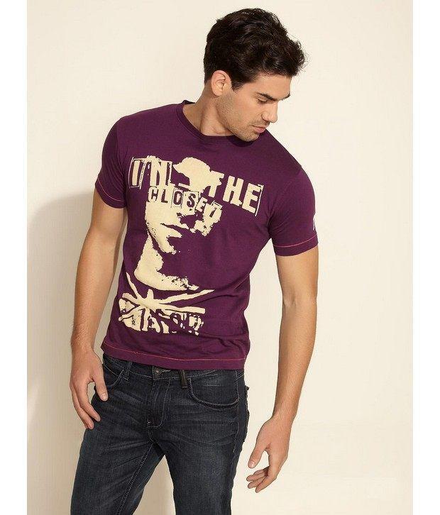 In The Closet Dark Purple T-Shirt