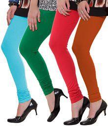 Rham Blue-Green-Red-Rustic Orange Pack of 4 Leggings