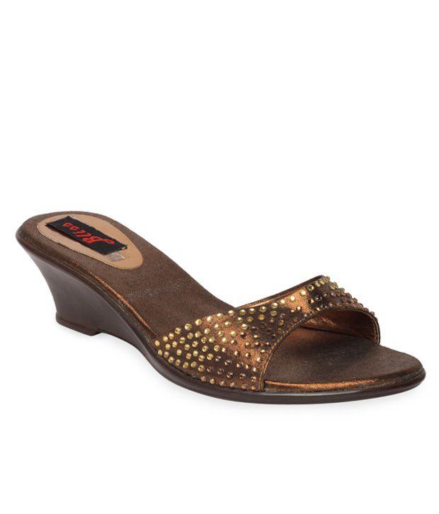 Bliss Fab Copper Slip-on Heels
