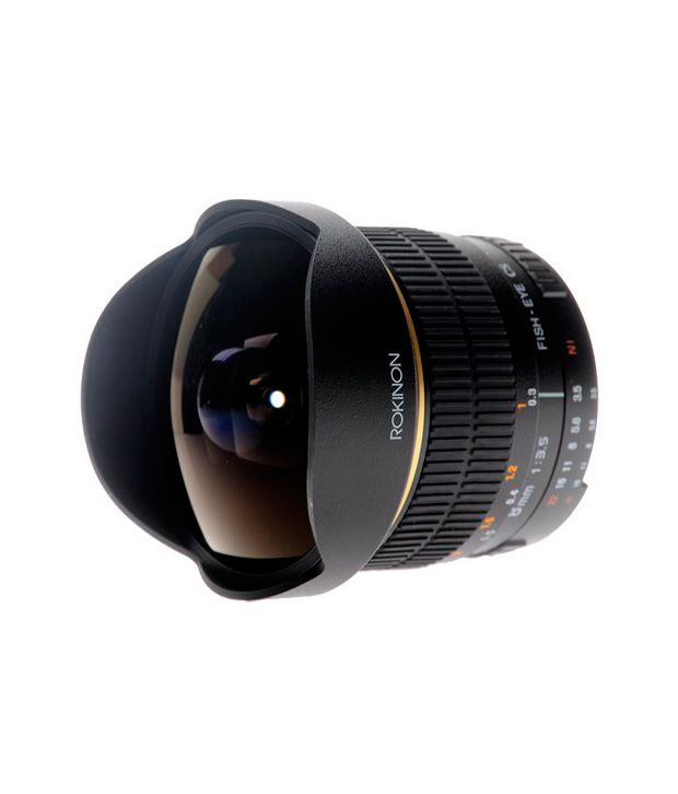Rokinon FE8M-N 8 mm F3.5  Fisheye Lens for Nikon (Black)
