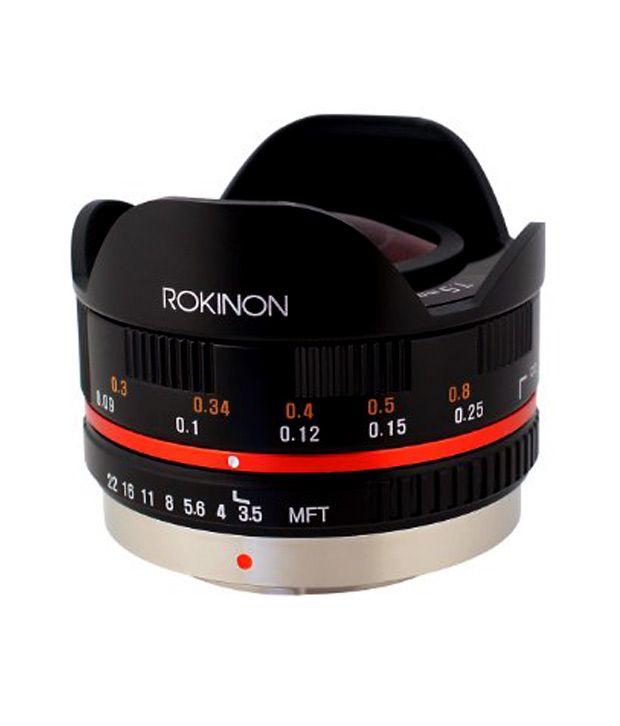 Rokinon FE75MFT-B 7.5 mm F3.5  UMC Fisheye Lens for Micro Four  Thirds (Olympus PEN and ..