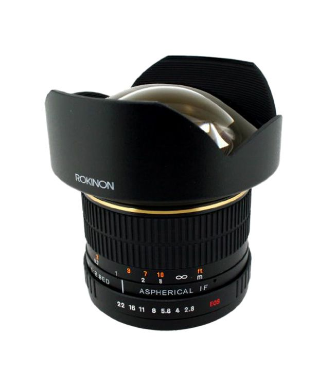 Rokinon FE14M-C 14 mm F2.8  Ultra Wide Lens for Canon (Black)