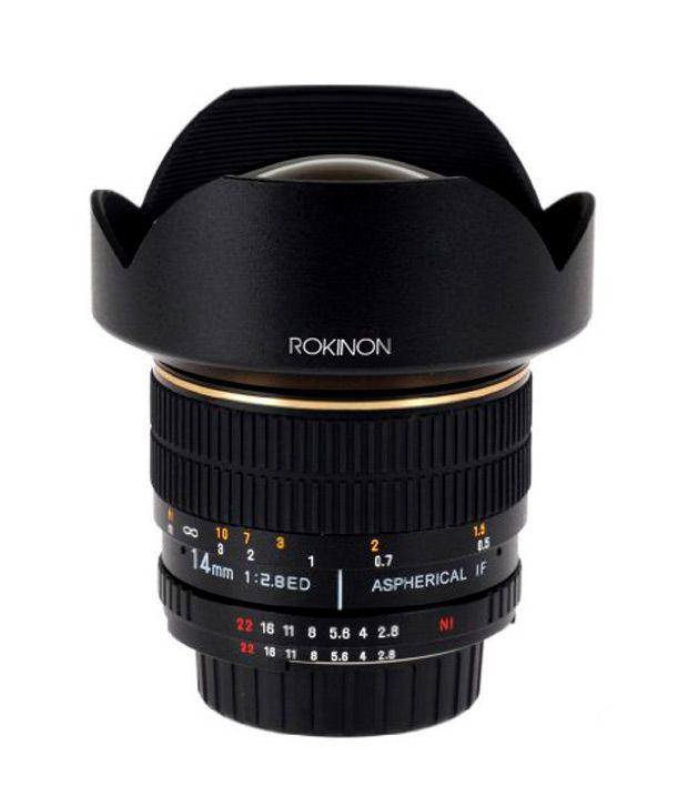 Rokinon FE14M-P 14 mm F2.8  Ultra Wide Lens for Pentax (Black)