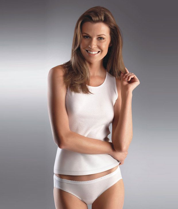 Wet White Cotton Panties 110