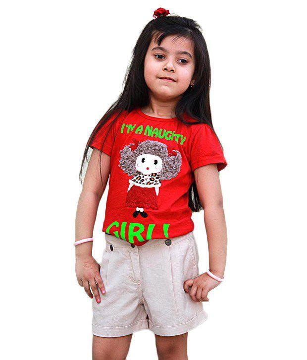 Shoppertree Cotton Beige Shorts For Kids