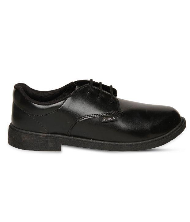 Bata Scout Classic Black School Shoes