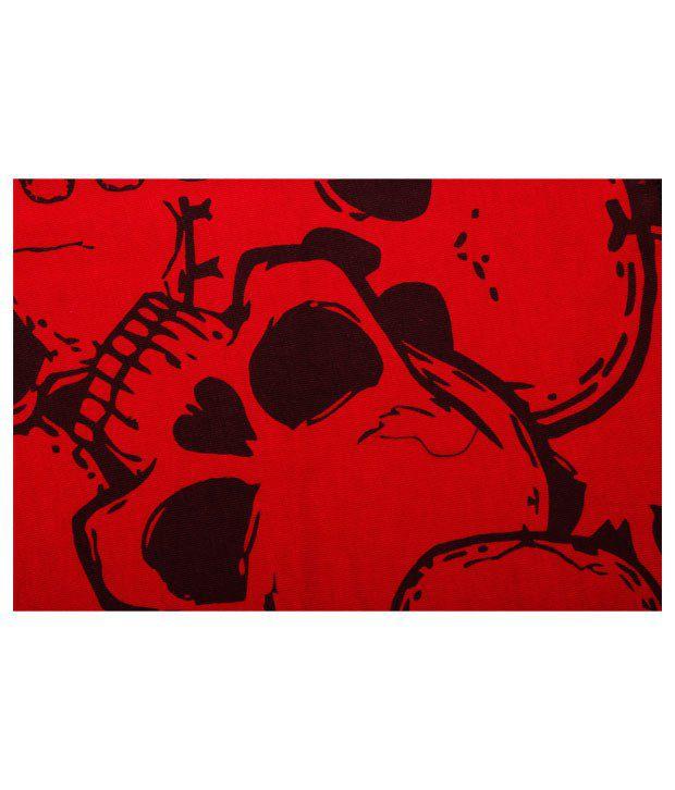 Lycans Red Skull Printed Balaclava
