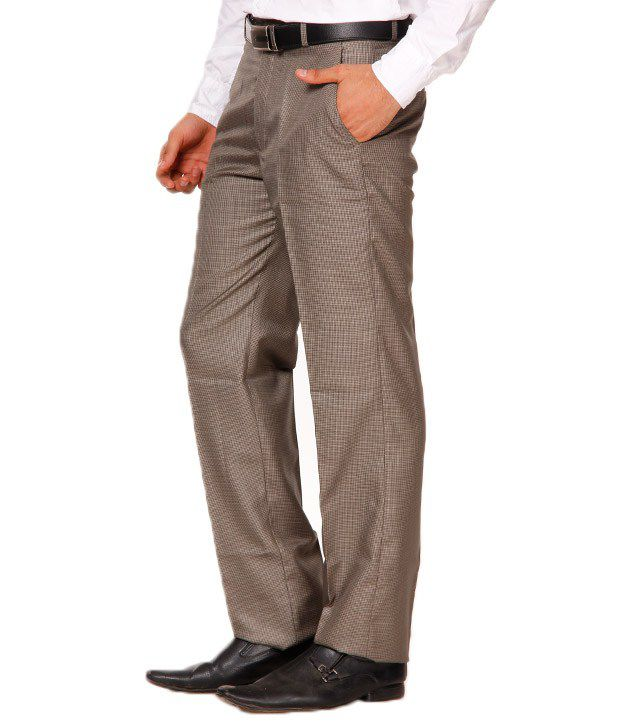 Franco Leone Khaki Cotton Trouser
