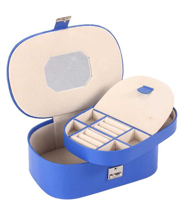 Leather Talks Spacious Jewellery Box - Blue
