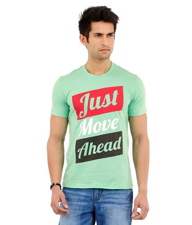 Yepme Just Move Ahead Spring Green T Shirt