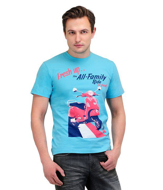Yepme Scooter Radiance Blue T Shirt