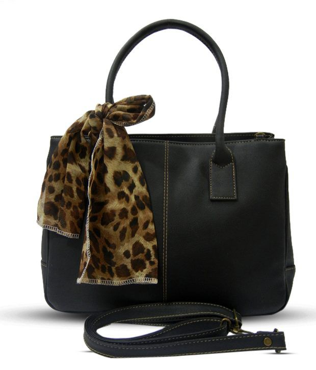 Nell Sophisticated Black Satchel Bag