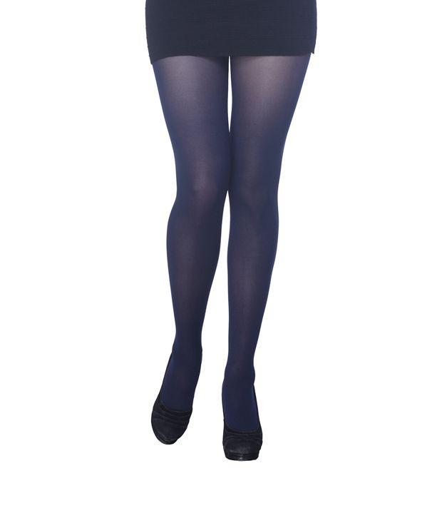 unequal in performance enjoy discount price boy Golden Girl Velvety Navy Blue Panty Hose Stockings