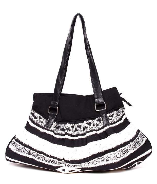 Frolic Smart Black & White Shoulder Bag