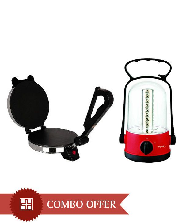 Cripton Roti Maker + Pigeon Emergency Lamp Dhruv