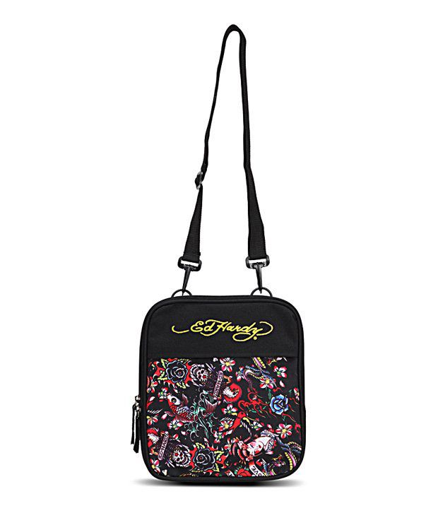 Ed Hardy Caprio Black Sling Bag - Buy Ed Hardy Caprio Black Sling Bag  Online at Best Prices in India on Snapdeal 862f5165ee971