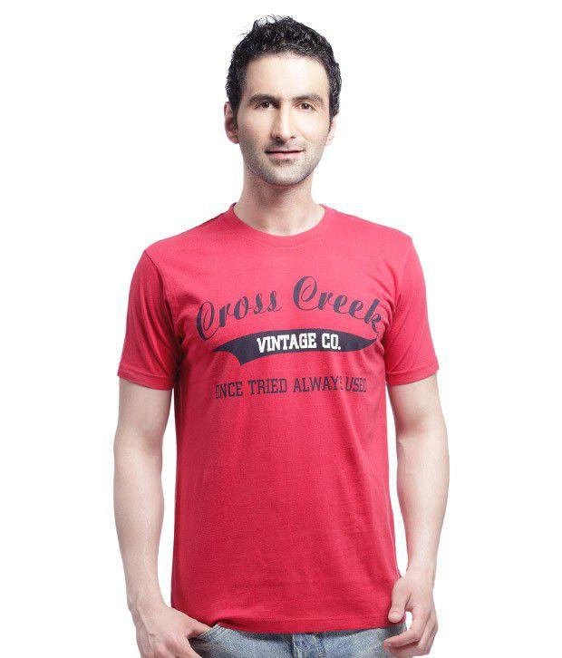 Crosscreek Trendy Red T Shirt