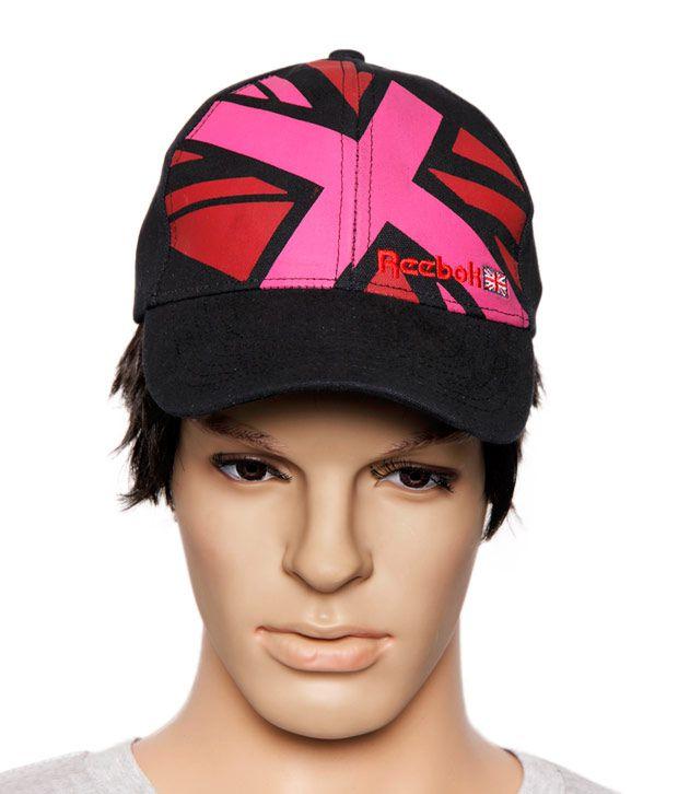Reebok Cool Black & Pink Cap