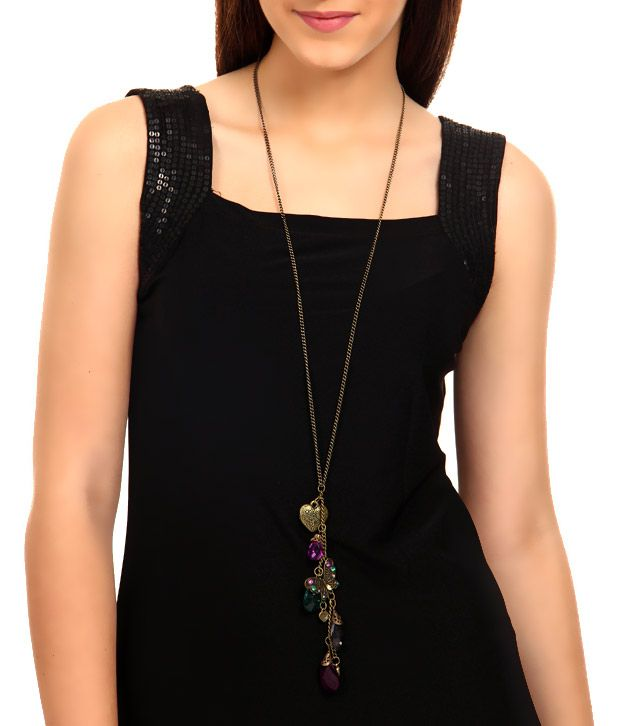 Rhea Multi Charm Drop Necklace