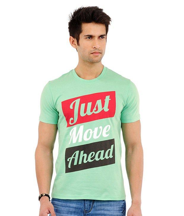 Yepme Just Move Ahead Spring Green T-Shirt