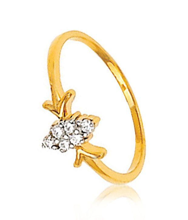 Avsar 18kt Gold 0.09 Ct. Diamond Ring