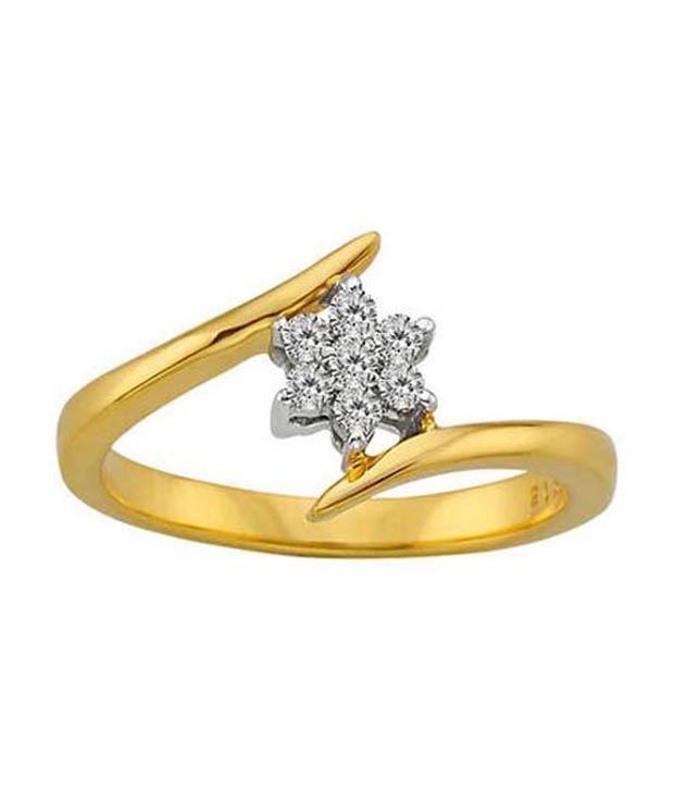 Avsar 18kt Gold 0.12 Ct. Diamond Floral Glory Ring