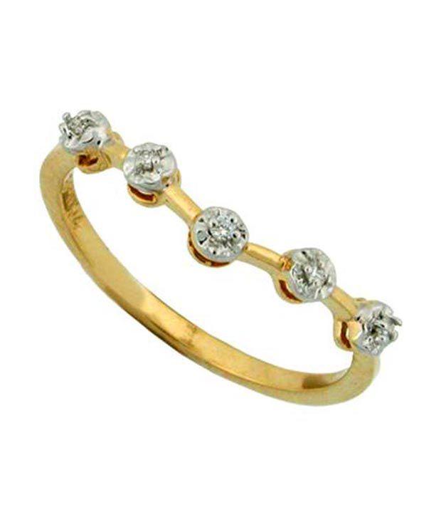 Avsar 0.10 Ct. Five Diamond 18kt Gold Ring