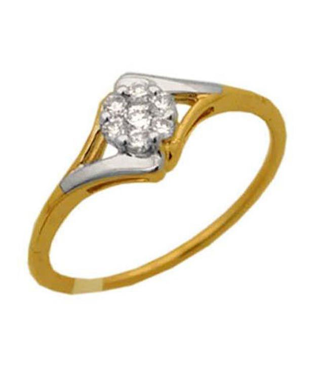 Avsar 0.12 Ct. Seven Diamond 18kt Gold Floral Ring