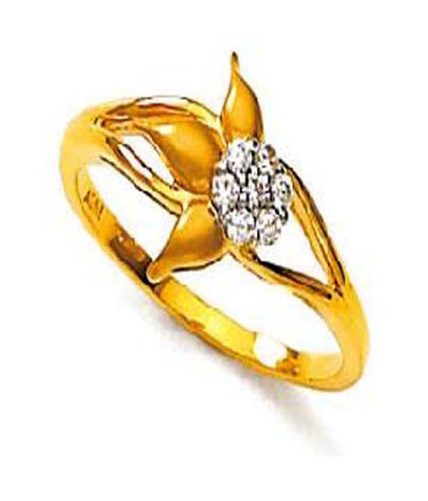Avsar 18kt Gold 0.10 Ct. Diamond Nature Touch Ring