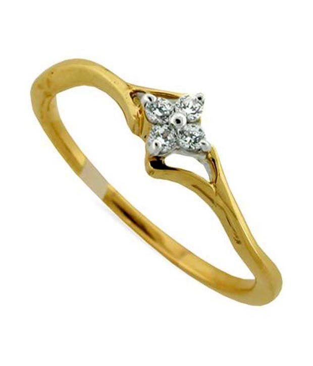 Avsar 18kt Gold 0.08 Ct. Diamond Glow Ring