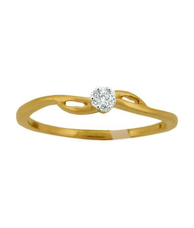 Avsar 0.12 Ct. Seven Diamond 18kt Gold Cluster Ring