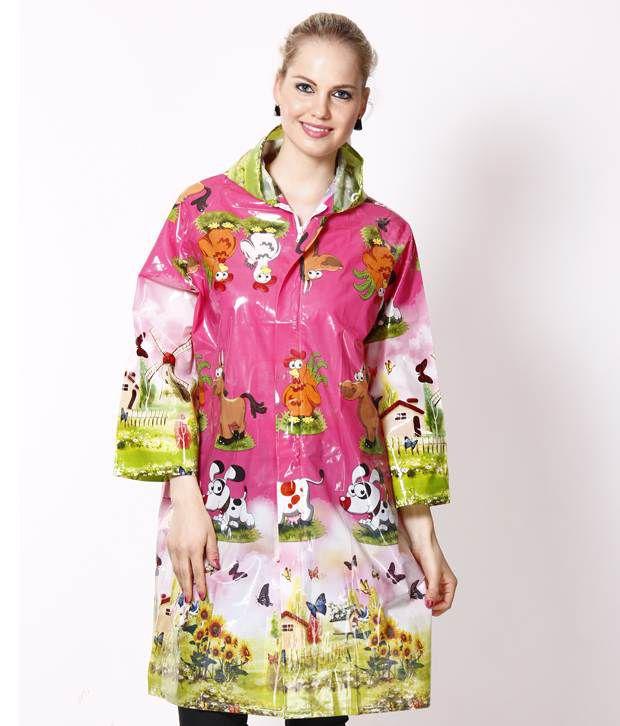 Jorss Multicolour Printed Large Women Raincoat