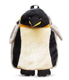 Tickle Black & White Pingu School Bag - 38 Cm