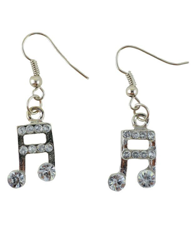 Angel Glitter Classic Musical Note Earrings