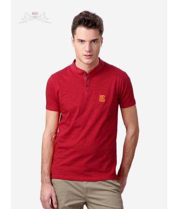 Spiel Red Henley T-Shirts