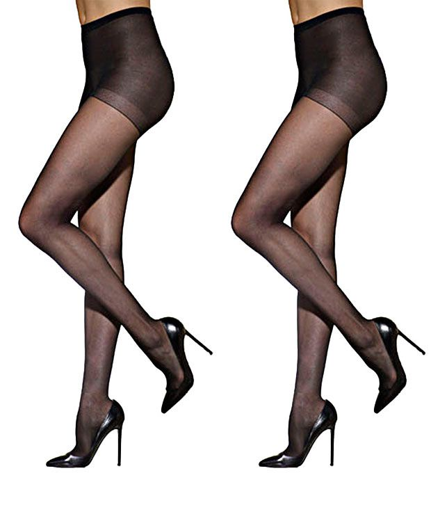 b5387b964 Golden Girl Black Panty Hose Stockings 2 Pair Pack available at SnapDeal  for Rs.525