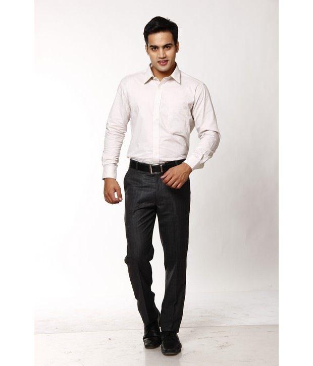 Praado Classic Black Trousers