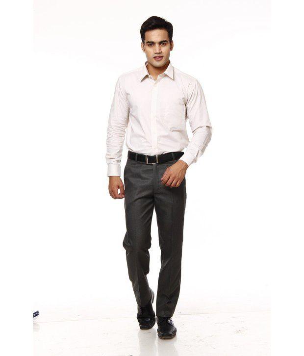 Praado Classic Grey Trousers