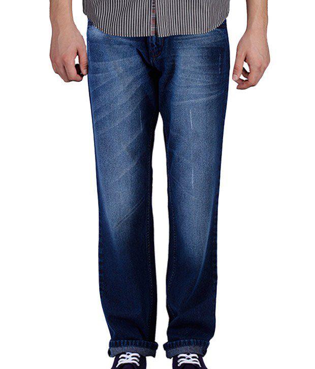 Yepme Deep Blue Faded Jeans