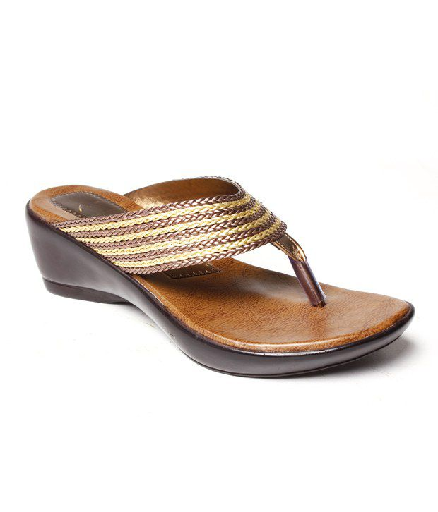 Do Bhai Distinct Copper Slip-on Heels