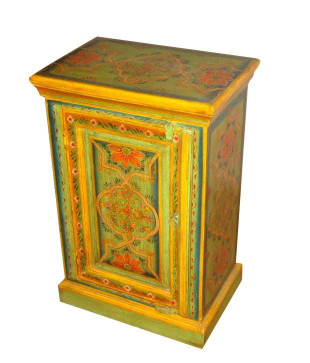 Shiva Creations Hand Painted Wooden, Hand Painted Cabinet India