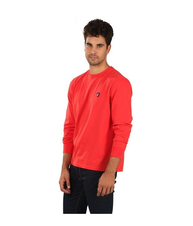 American Swan Red Florida Crew Neck
