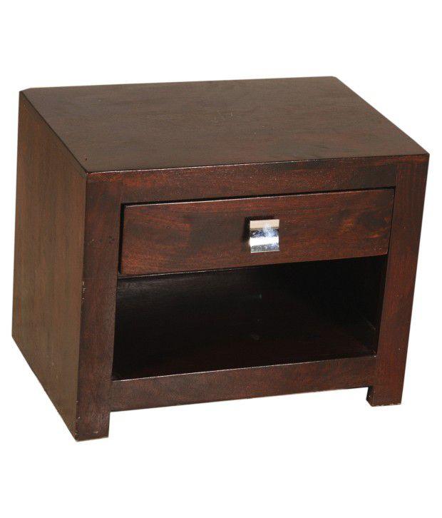 Sheesham Wood Elegant Side Table With One Drawer